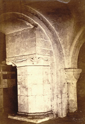 Part Of Crypt, AD 1121, Pillar Inserted AD 1177